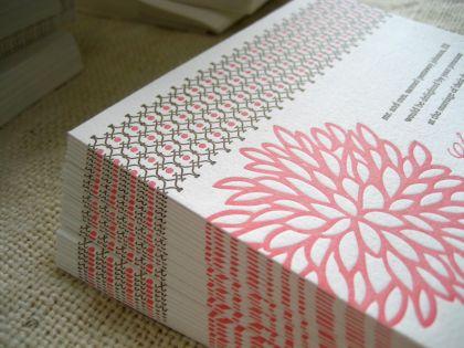 lattice wedding invitation design