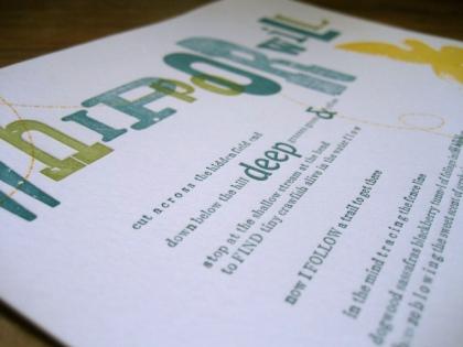 letterpress broadside