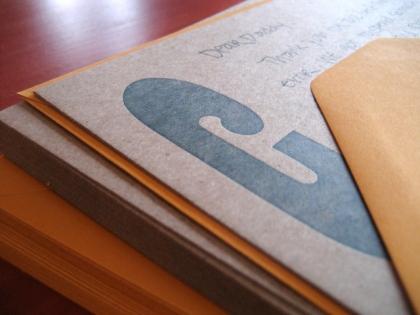 C wood type stationery