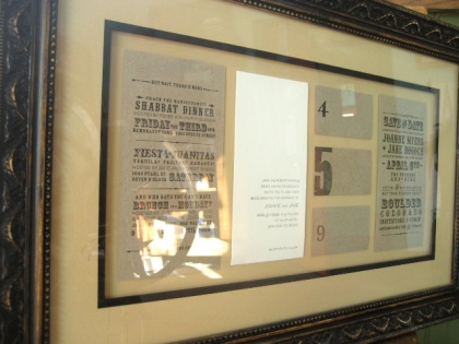 letterpress framing