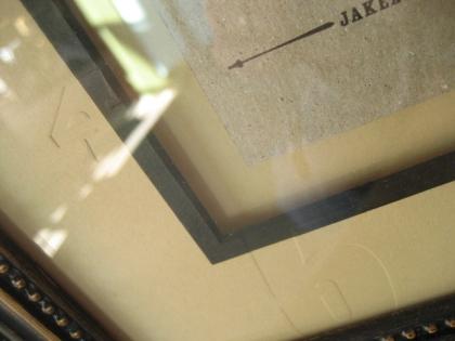 letterpress frame mat